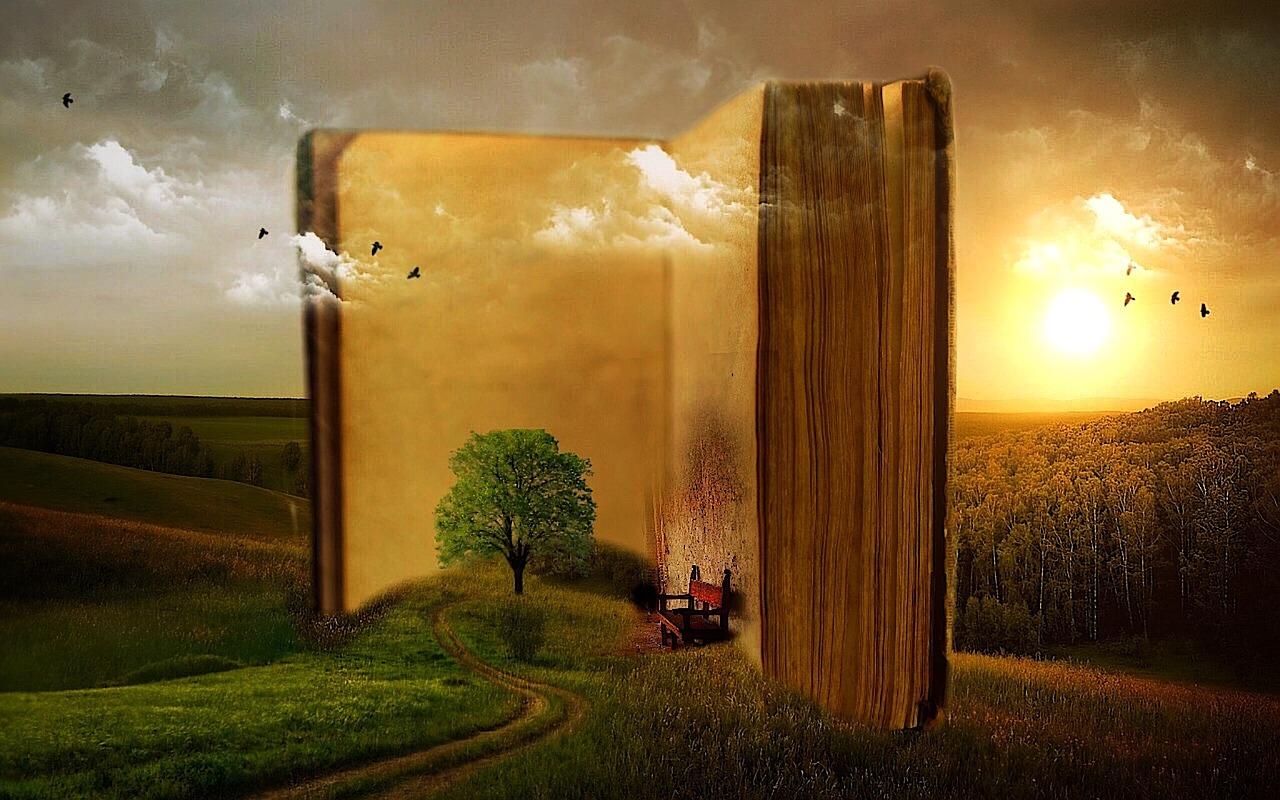 dziewczynka z książeczkami