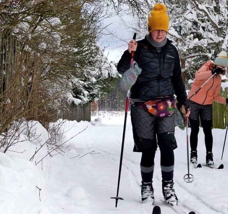 Zima na biegowkach